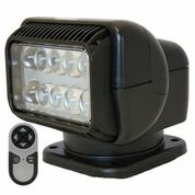 LED PERMANENT MOUNT RADIORAY W/WIRELESS REMOTE - BLACK  Lights, lighting, wireless, remote, searchlight, searchlights, mount, mounting, search, light, safety, LED, Halogen, beam, light beam, search & rescue, rescue, search and rescue, CERT, emergency, spotlight, spot light, agriculture, farm, farming, farmer, outdoor, nighttime, outdoor activities, camp, camping, hunting, boating, off-roading, offroading, event lights, event lighting, lighting, fire, police, municipal, tow, towing, plow, plowing, snow plow, truck lights, rv, RV, recreation, recreation vehicle, law enforcement, marine lighting, work vehicle lights, golight, Golight, Golite, golite, radioray, Radioray, radio, ray