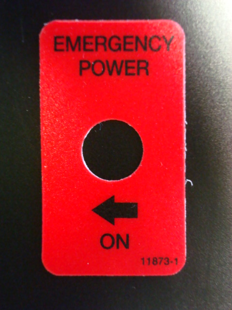 Emergency Power Decal