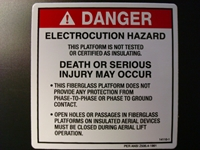 Electrocution Hazard Warning Decal