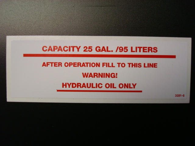 Capacity 25 Gallons Decal