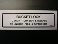 Bucket Lock Decal