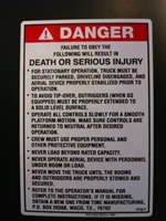 Danger Warning Decal