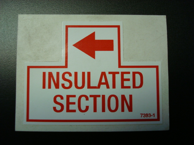 Insulated Section Decal