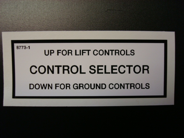 Control Selector Decal