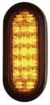 "6-1/2"" Oval Amber Strobe Light"