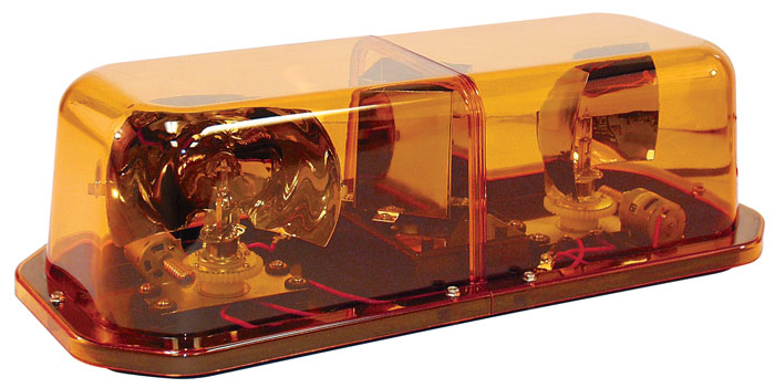 Dome mini rotator light bar amber mini strobe light bar aloadofball Choice Image