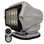 STRYKER - LED Remote Control Searchlight With Wireless Handheld Remote - Chrome 30064 Stryker, Lights, lighting, wireless, remote, searchlight, searchlights, mount, mounting, search, light, safety, LED, Halogen, beam, light beam, search & rescue, rescue, search and rescue, CERT, emergency, spotlight, spot light, agriculture, farm, farming, farmer, outdoor, nighttime, outdoor activities, camp, camping, hunting, boating, off-roading, offroading, event lights, event lighting, lighting, fire, police, municipal, tow, towing, plow, plowing, snow plow, truck lights, rv, RV, recreation, recreation vehicle, law enforcement, marine lighting, work vehicle lights, golight, Golight, Golite, golite, radioray, Radioray, radio, ray, vehicle, truck, automotive, heavy equipment, floodlight, flood, light